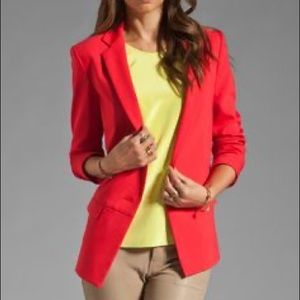 Tibi Maverick Suiting Solid Jacket in Lobster S 4